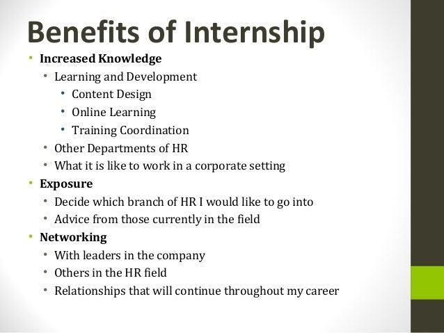 HR Internship Presentation