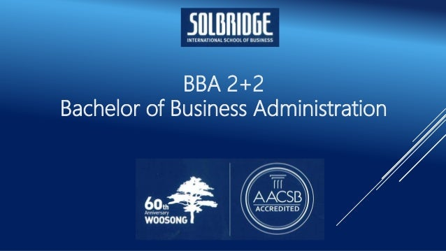 BBA 2+2 Bachelor of Business Administration