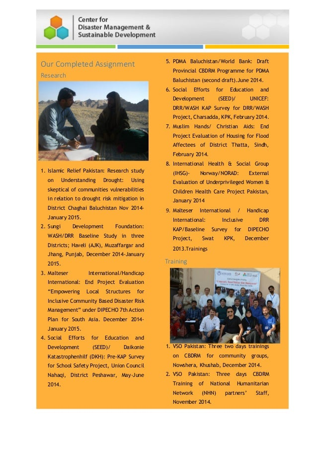 Our Completed Assignment Research 1. Islamic Relief Pakistan: Research study on Understanding Drought: Using skeptical of ...