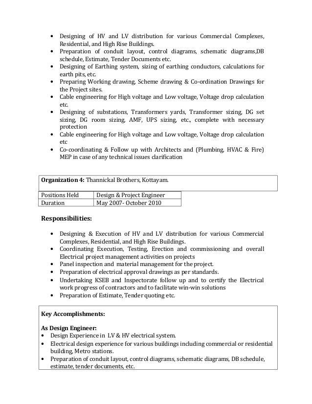 Transformer Design Engineer Resume