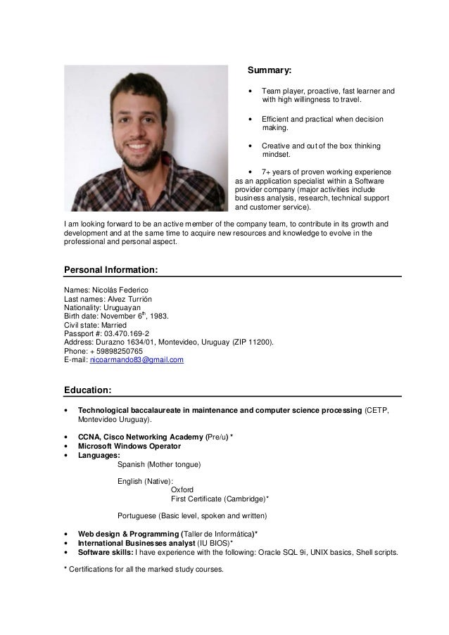 Willingness to travel in resume