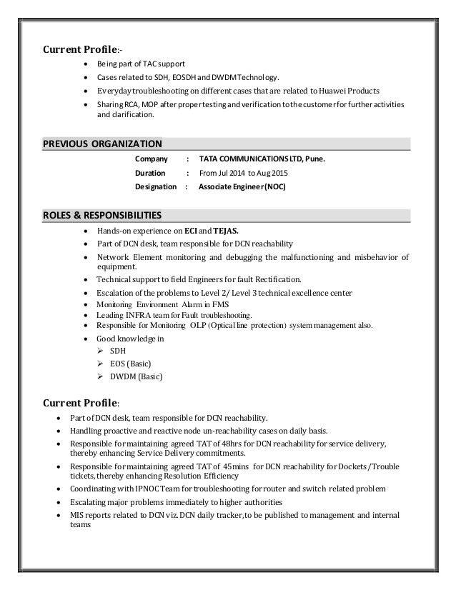 profile part of resumes