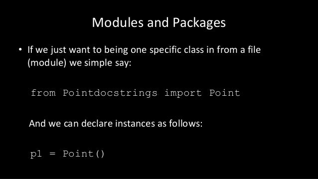 Python: Modules and Packages