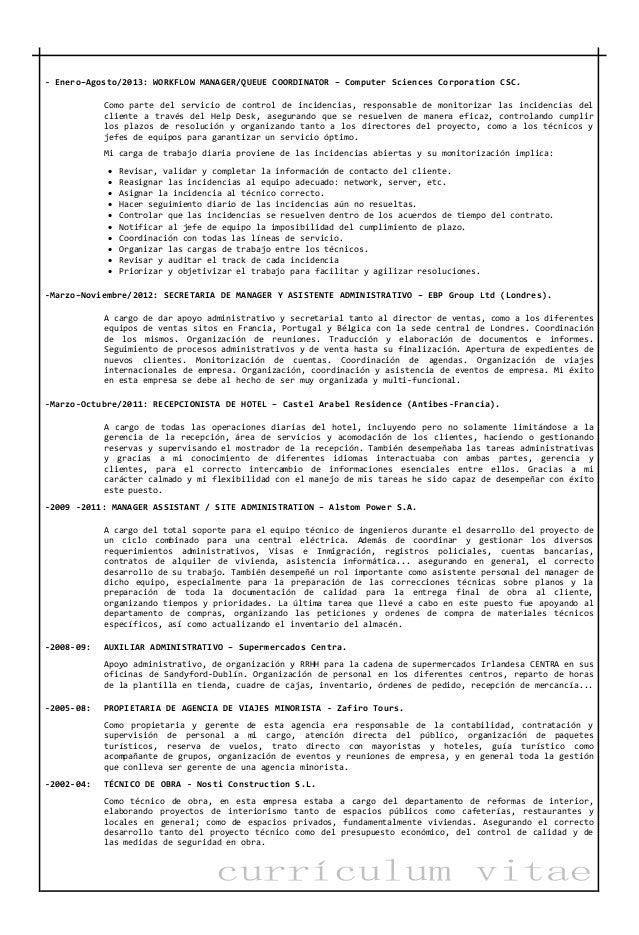 CV Spanish Linkedin