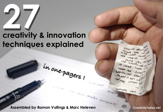 27creativity & innovationtechniques explained                  in on                         e-pag                        ...