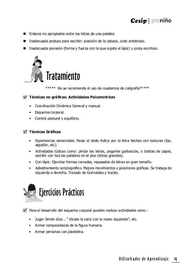 Dificultades de Aprendizaje20 • Reconocer partes del cuerpo y sus funciones. Coordinación Dinámica General: • Caminar sobr...
