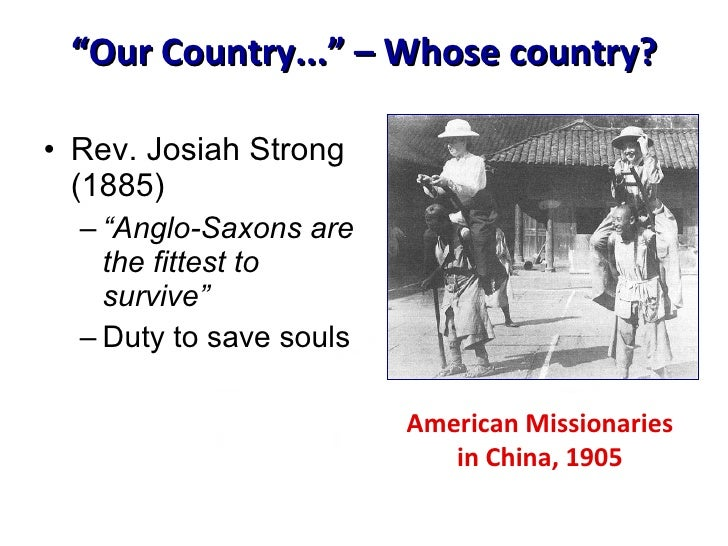 josiah strong our country The latest tweets from josiah strong (@josiahs1804) the city is the nerve  center of our civilization it is also the storm  my definition of a perfect country.