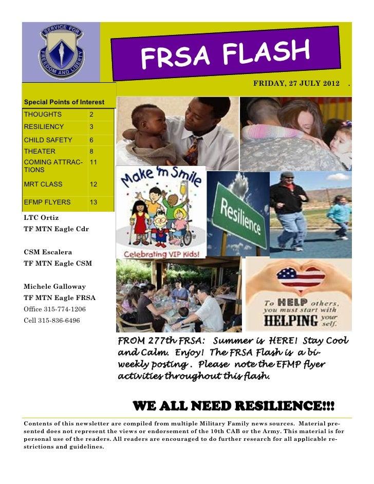 FRSA FLASH                                                                        FRIDAY, 27 JULY 2012            .Special...