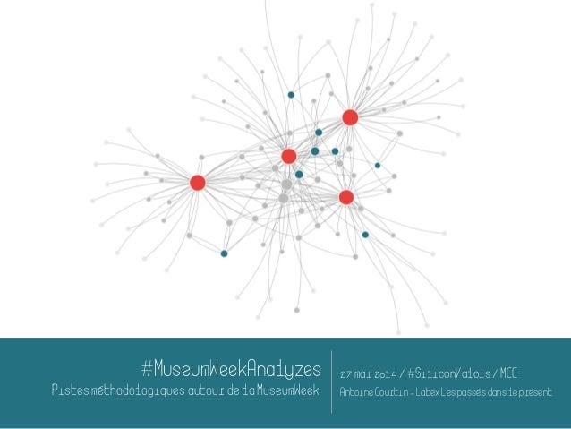 #MuseumWeekAnalyzes PistesméthodologiquesautourdelaMuseumWeek 27 mai2014 /#SiliconValois/MCC AntoineCourtin-LabexLespassés...
