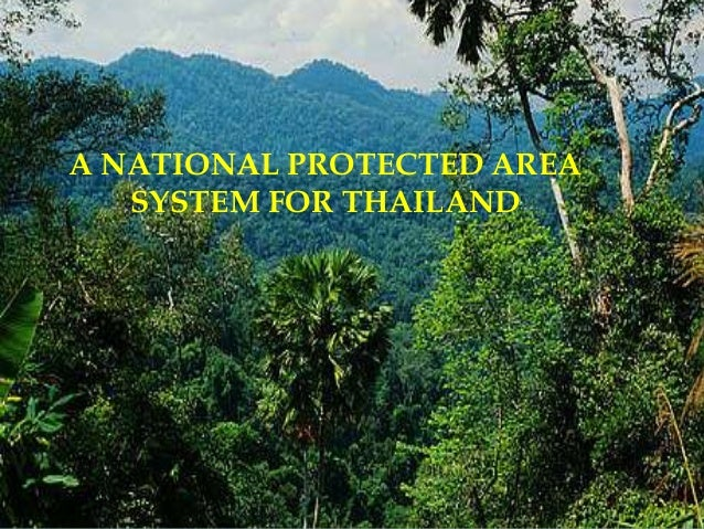 A NATIONAL PROTECTED AREA SYSTEM FOR THAILAND