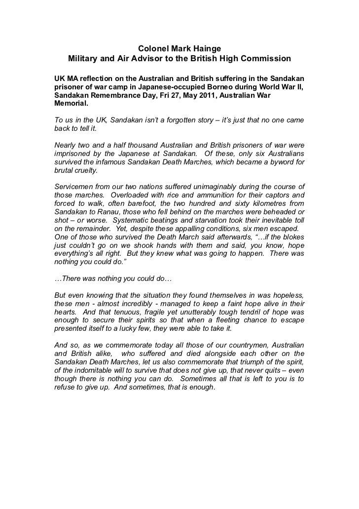 Colonel Mark Hainge    Military and Air Advisor to the British High CommissionUK MA reflection on the Australian and Briti...