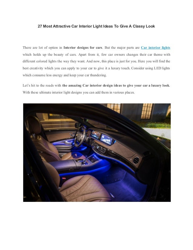 27 most attractive car interior light ideas to give a classy look