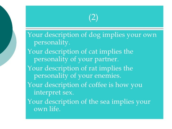 Partner personality test