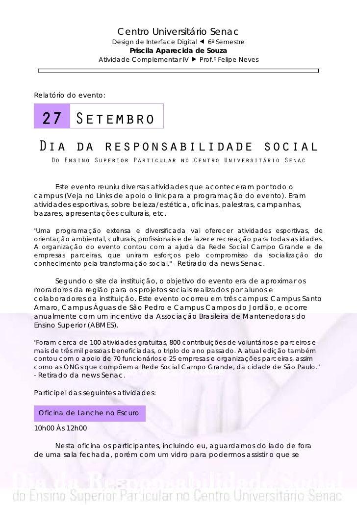 Centro Universitário Senac                        Design de Interface Digital     6º Semestre                             ...