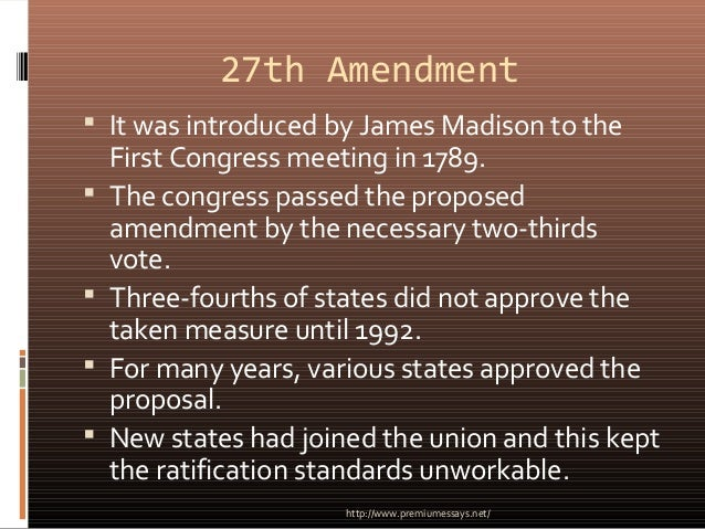 an essay on the unratified amendments in the united states 6 constitutional amendments that just missed equality of rights under the law shall not be denied or abridged by the united states or by any state on account of.
