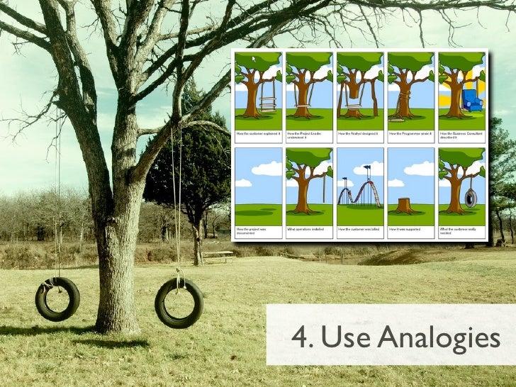 4. Use Analogies