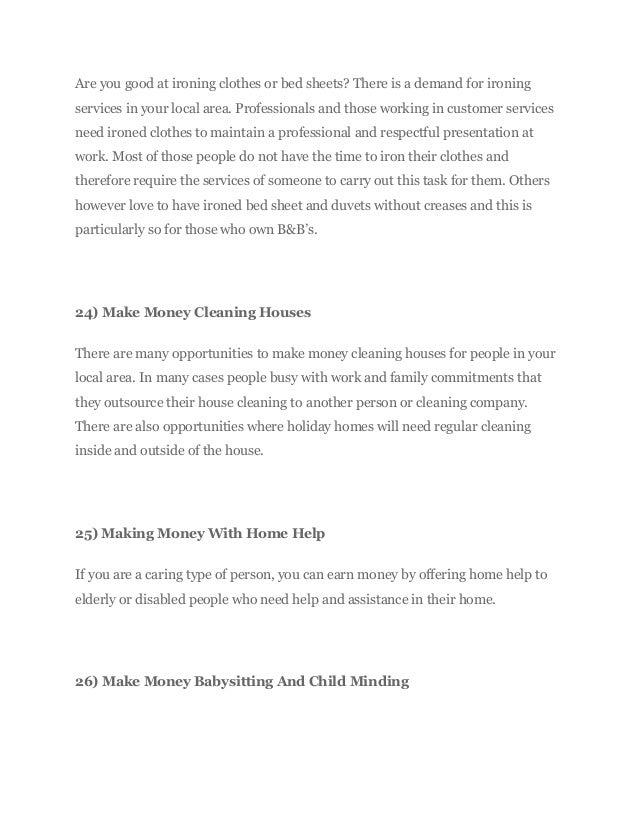 27 ways to make money