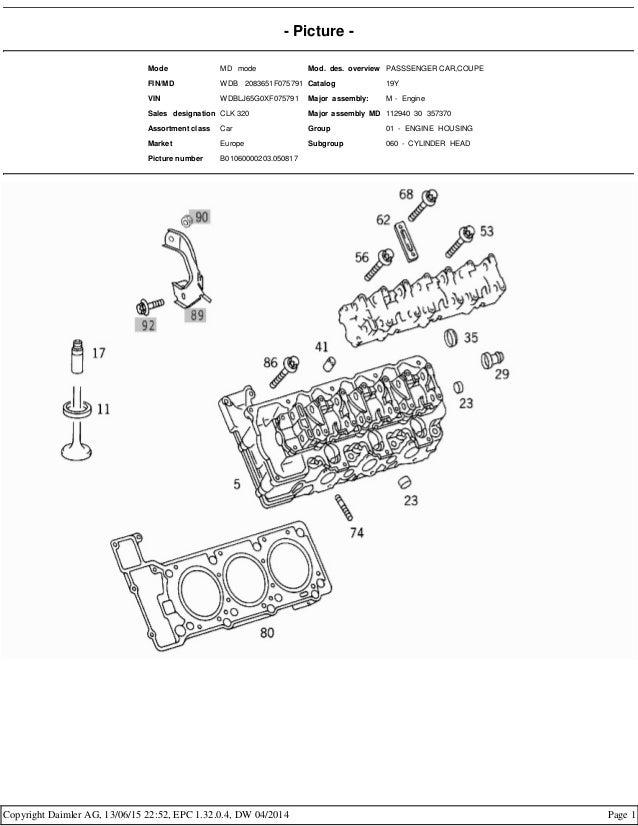 Mercedes benz m112 engine - epc