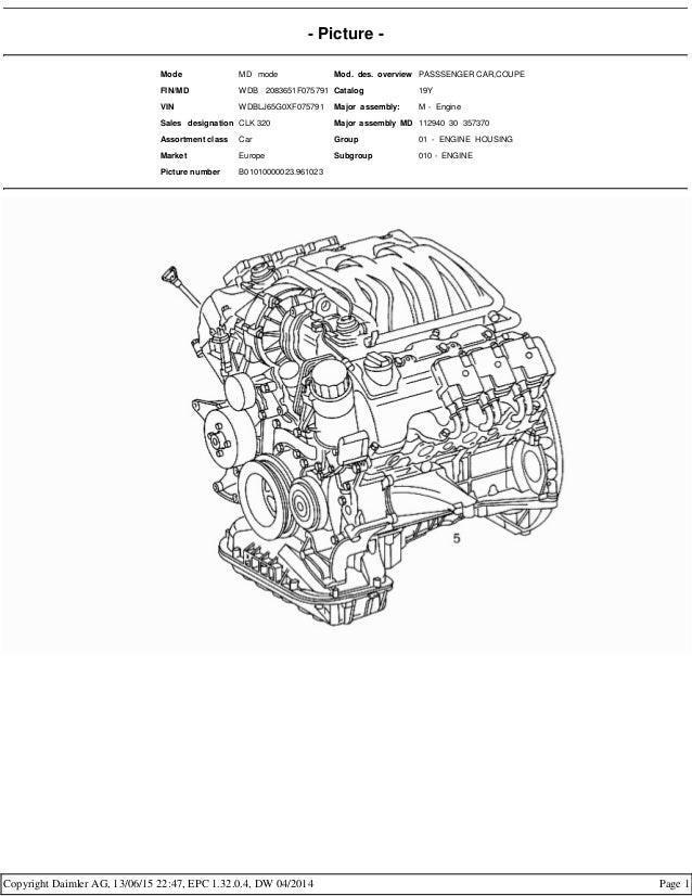 Mercedes benz m112 engine - epc