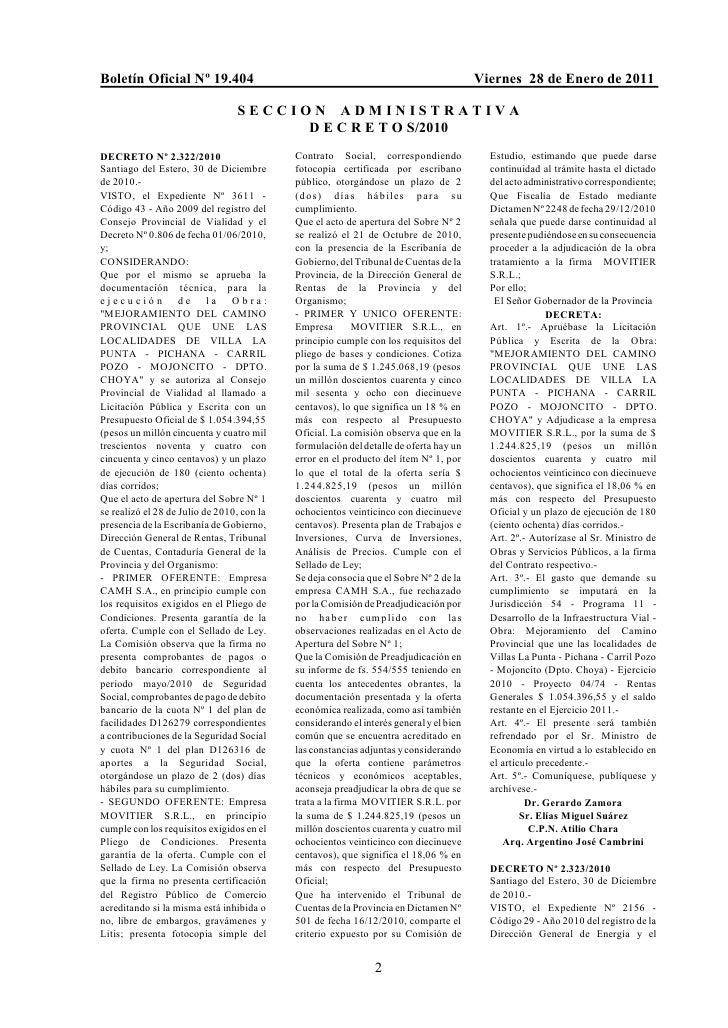 Boletín Oficial Nº 19.404                                                               Viernes 28 de Enero de 2011       ...
