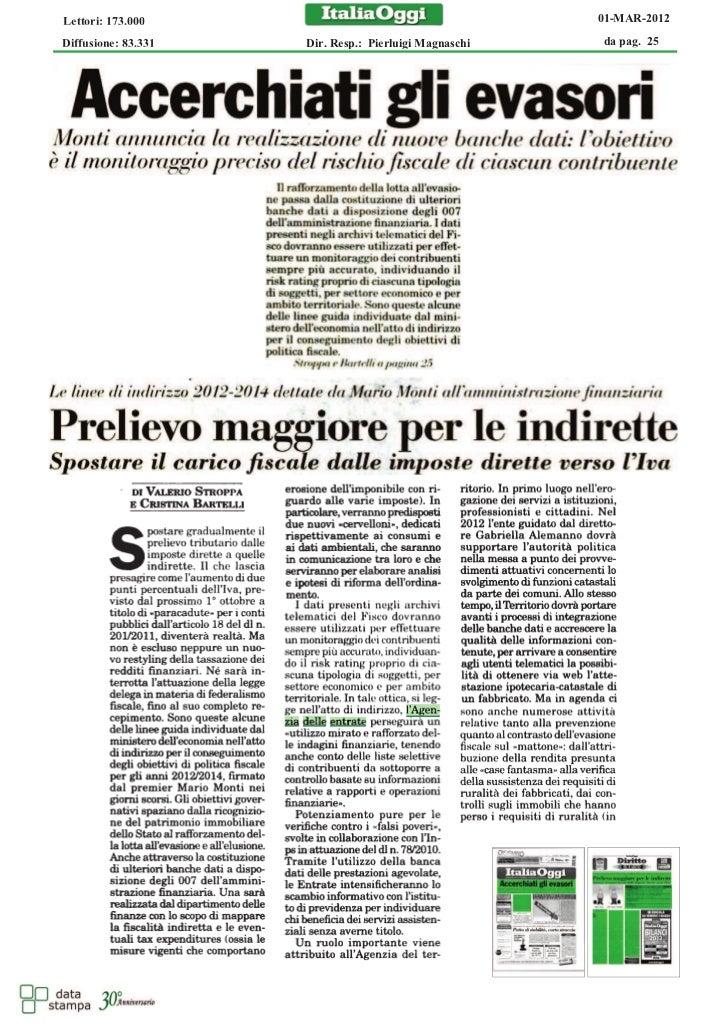 Lettori: 173.000                                       01-MAR-2012Diffusione: 83.331   Dir. Resp.: Pierluigi Magnaschi   d...