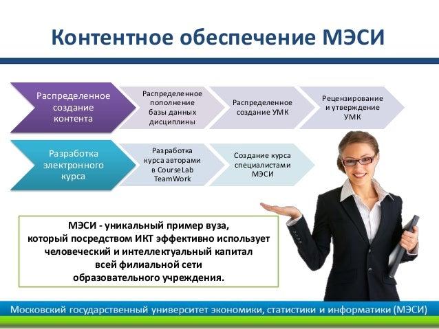 Контентное обеспечение МЭСИ Распределенное      Распределенное                                                       Рецен...