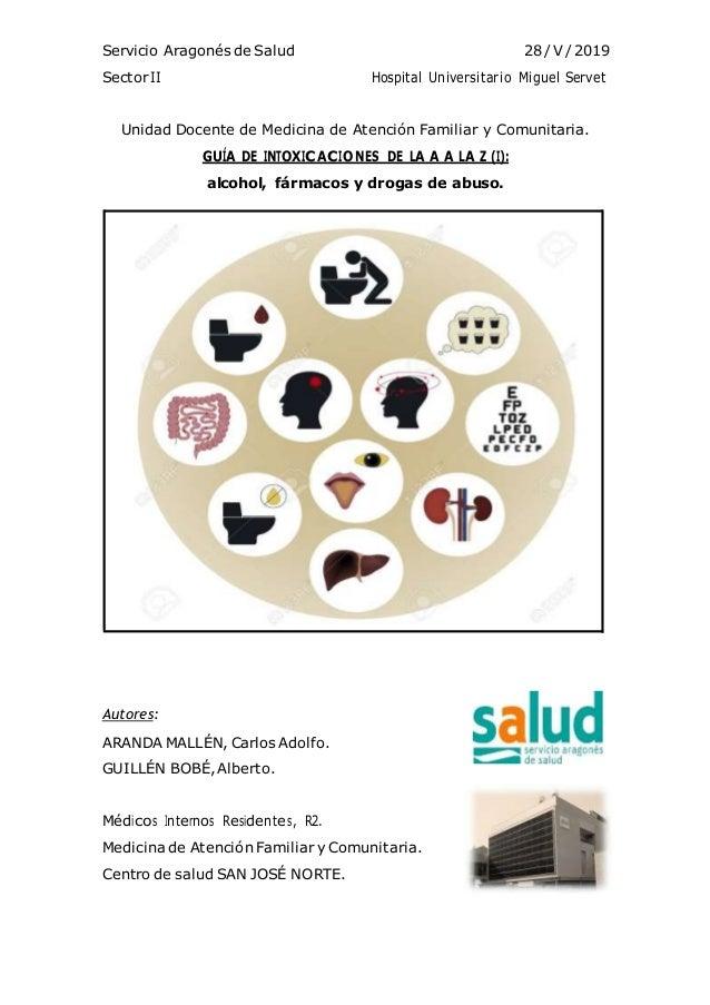 Servicio Aragonés de Salud 28 / V/ 2019 SectorII Hospital Universitario Miguel Servet Unidad Docente de Medicina de Atenci...