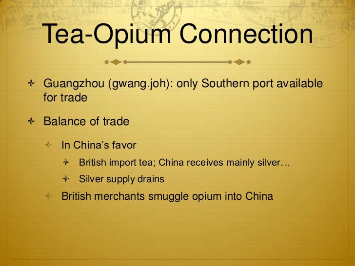 opium trade in china in the 18th century History of china the long perspective zhou and qin han intermediate times t'ang song 18th-19th century: the east india company grows opium in india for the chinese market.