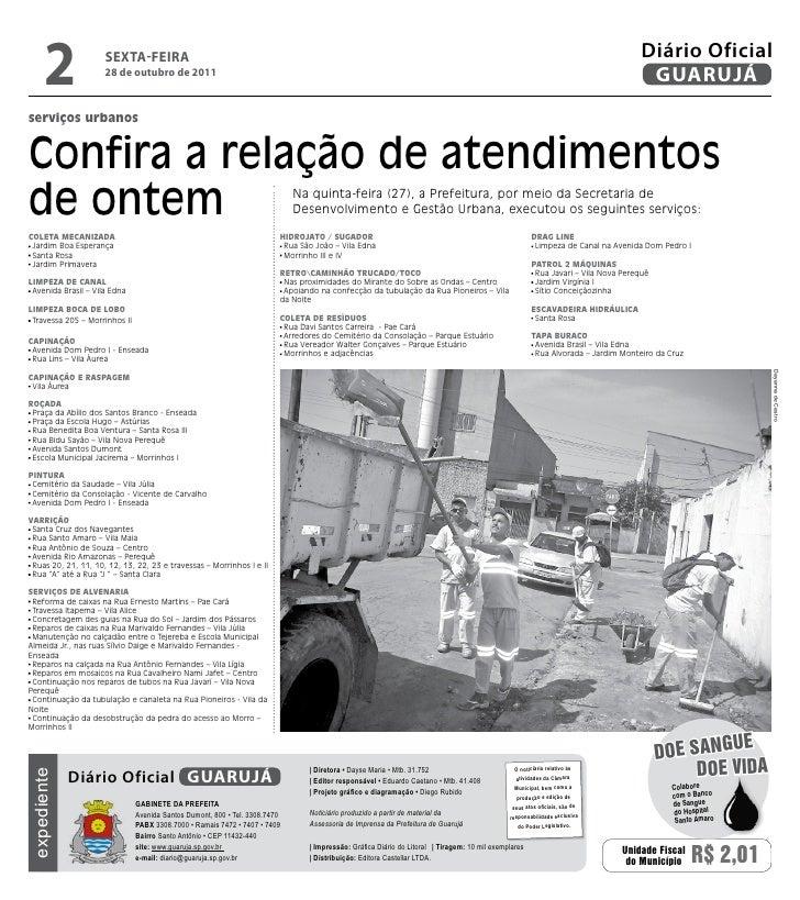 Diário Oficial de Guarujá - 28-10-11 Slide 2