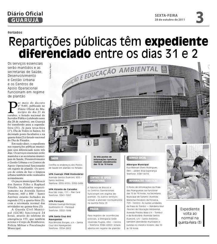 Diário Oficial de Guarujá - 28-10-11 Slide 3