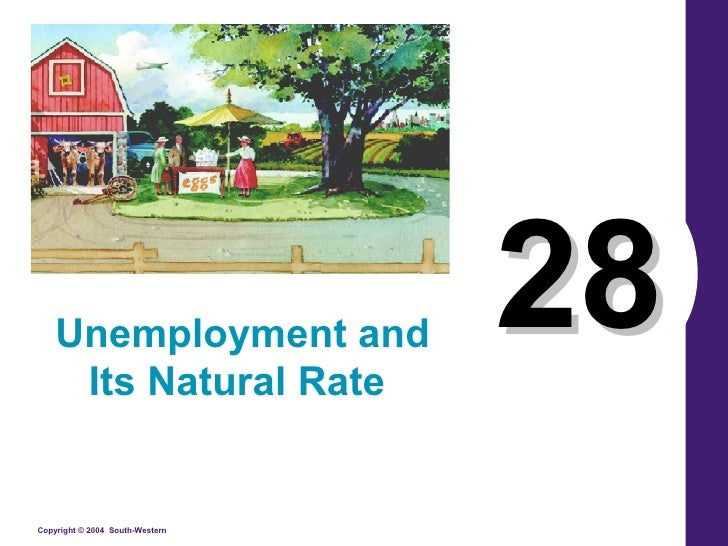 28 Unemployment and Its Natural Rate