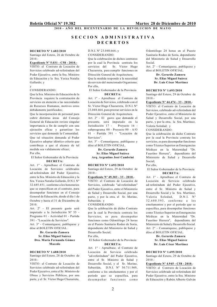 Boletín Oficial Nº 19.382                                                         Martes 28 de Diciembre de 2010          ...