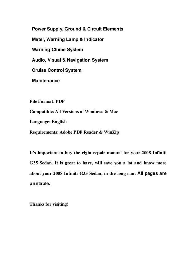 Infiniti g35 repair manual   ebay.