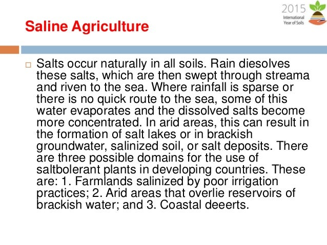 Sustainability for food security a lecture by mr for Soil characteristics definition