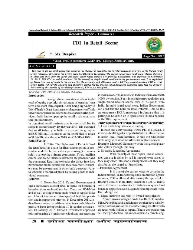 28 International Indexed & Refereed Research Journal, ISSN 0974-2832, (Print), E- ISSN- 2320-5474, Aug-Oct, 2013 ( Combind...