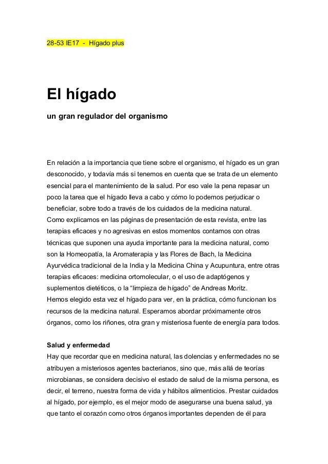 28-53 IE17 - Hígado plus El hígado un gran regulador del organismo En relación a la importancia que tiene sobre el organis...
