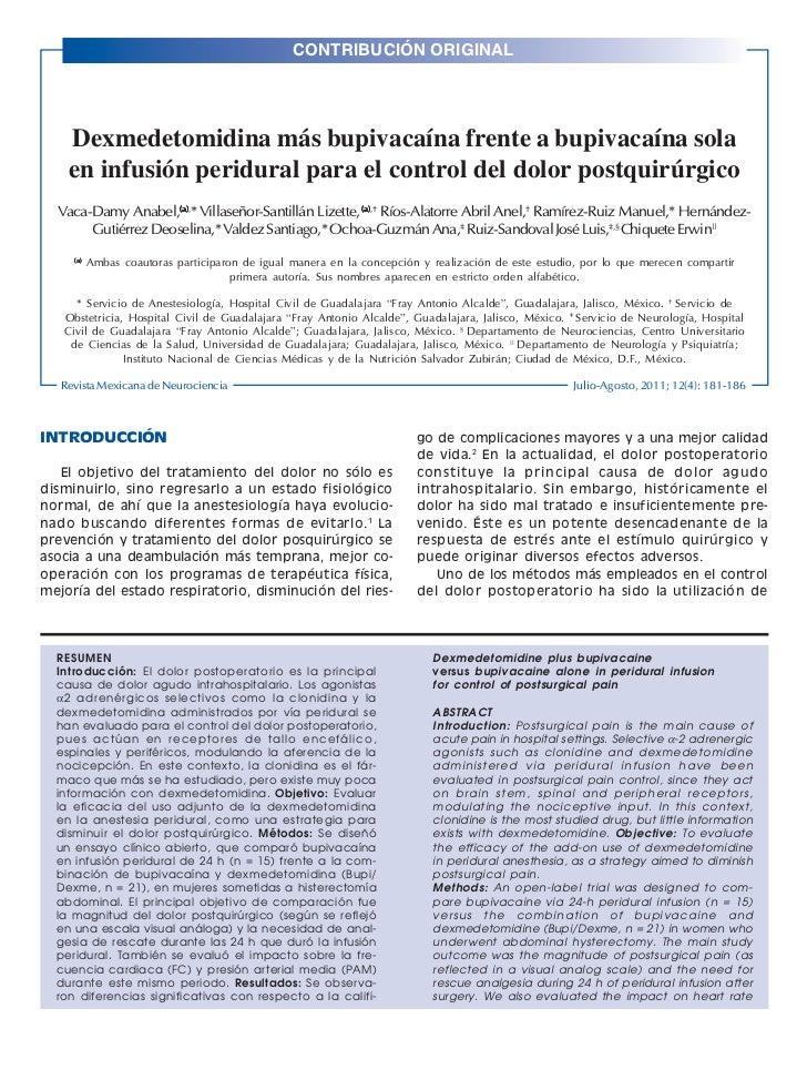 CONTRIBUCIÓN ORIGINALRev Mex Neuroci 2011; 12(4): 181-186                                                                 ...
