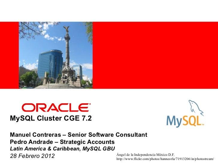 <Insert Picture Here>MySQL Cluster CGE 7.2Manuel Contreras – Senior Software ConsultantPedro Andrade – Strategic AccountsL...