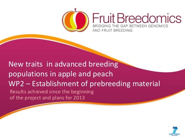 New traits in advanced breeding populations in apple and peach WP2 – Establishment of prebreeding material Results achieve...