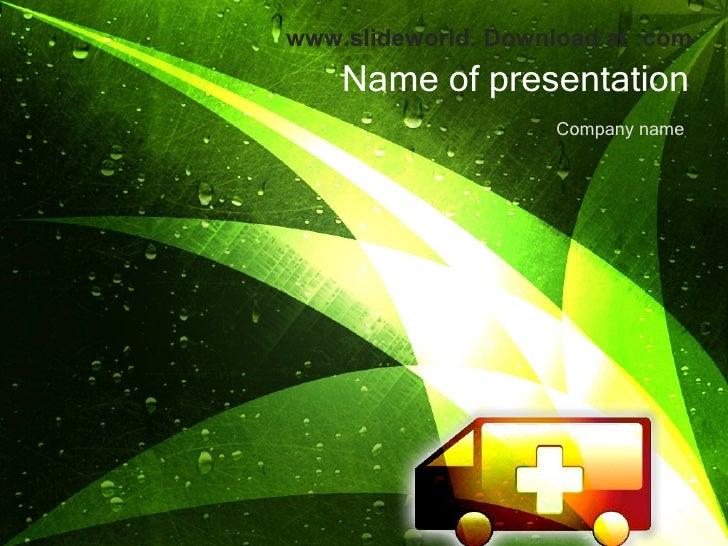 Ambulance PowerPoint (PPT) Templates