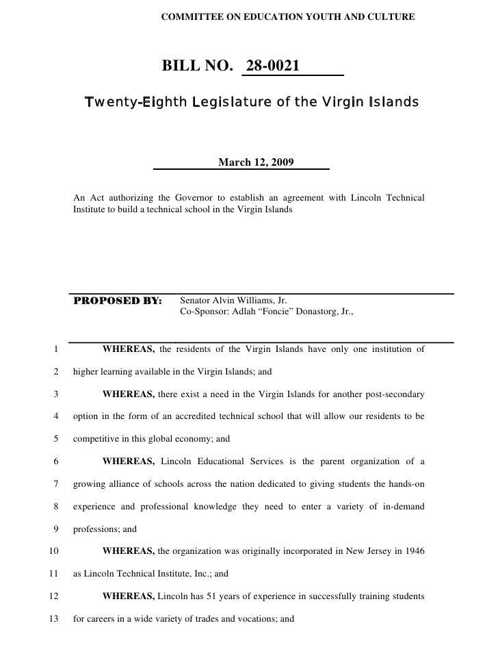 COMMITTEE ON EDUCATION YOUTH AND CULTURE                                 BILL NO. 28-0021          Twenty-Eighth Legislatu...