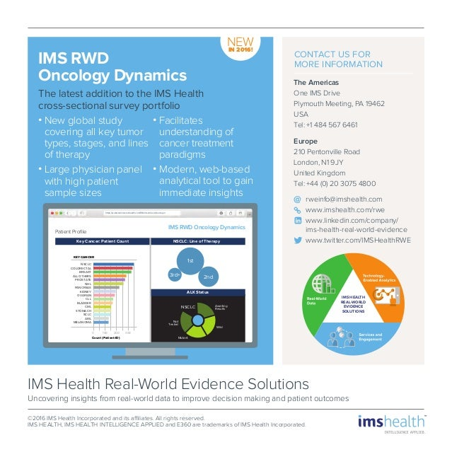 Ims Health Rwes The Future Of Real World Insights In Cancer