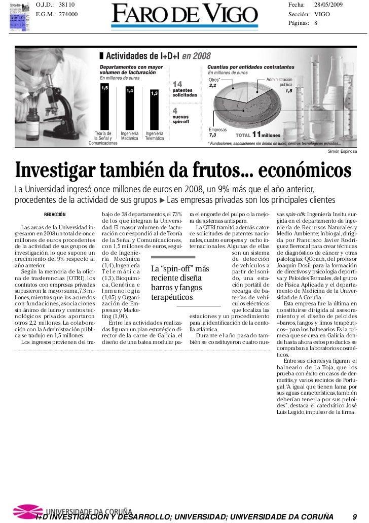 """La Universidad38110 ha pro-        O.J.D.: no se                cida en el Consello Galego de                      mía""""de ..."""