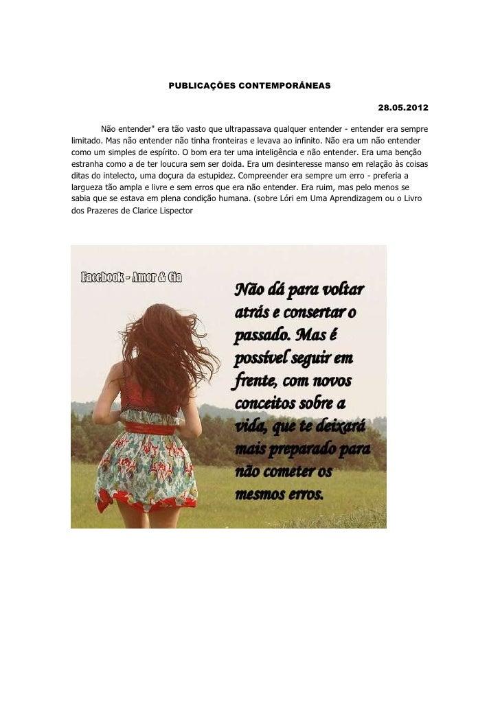 PUBLICAÇÕES CONTEMPORÂNEAS                                                                               28.05.2012       ...