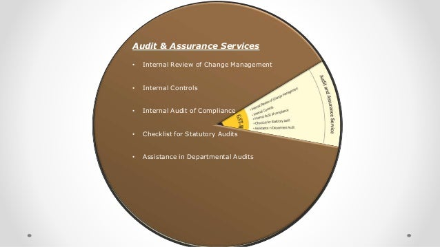 Audit & Assurance Services • Internal Review of Change Management • Internal Controls • Internal Audit of Compliance • Che...