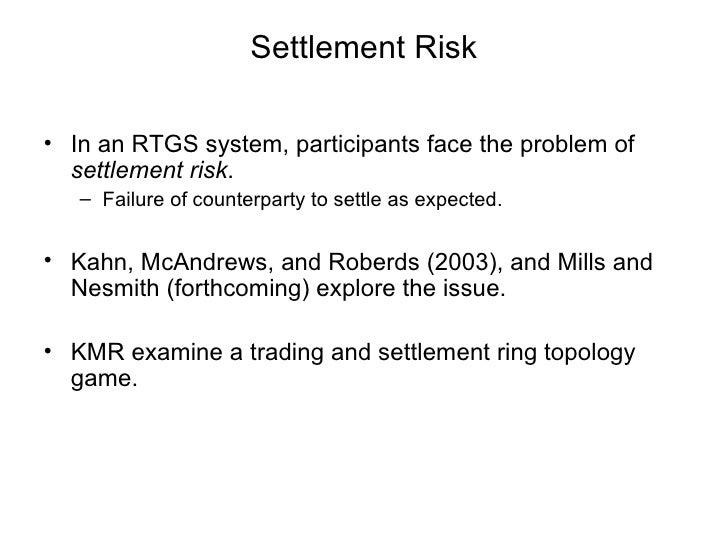 Trading system settlement