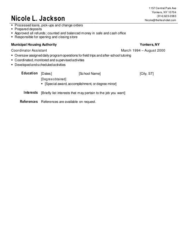 nicole jackson resume