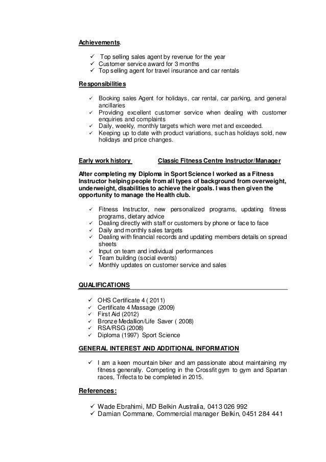 Food Sales Resume Examples Resume Marketing Manager Resume Resume Perfect Resume  Example Resume And Cover Letter  Customer Service Example Resume
