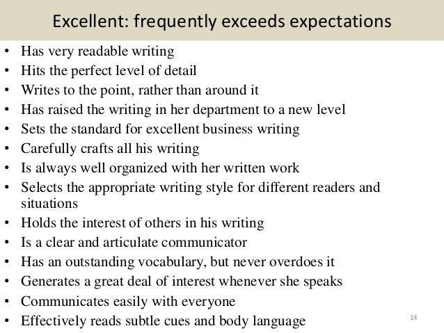 Performance Appraisal Sample  Employee Appraisal Samples