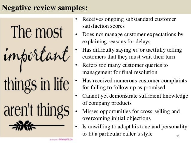 280 performance review comment samples – Employee Performance Review Example